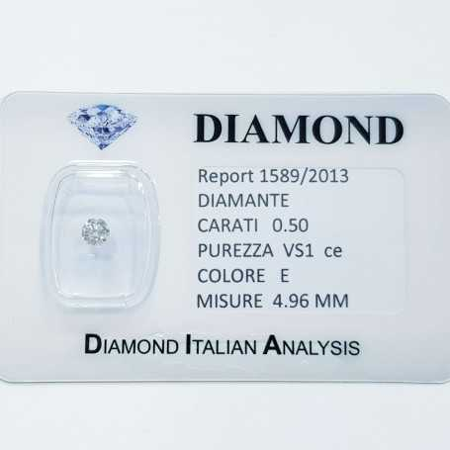 Natural diamond 0.50 carat and COLOR VS 1 CE lot 1.00