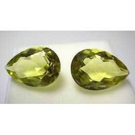 CITRINE GREEN DROPS COLOURED TOP 17 CARATS