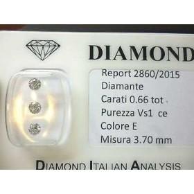 Diamants naturels avec une pureté de l'amélioration de la plaquette de 0,66 ct total