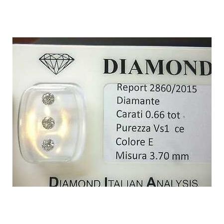 Diamanti naturali con purezza migliorata in blister da 0,66 ct totali