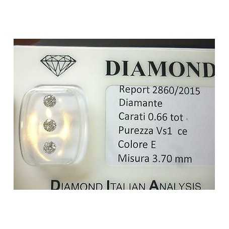 Natural diamonds with a purity of improved blister 0.66 ct total