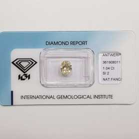 Diamante Fancy Ovale Certificato IGI 1.04 SI2 - REP.361908311 LOTTO 1.0