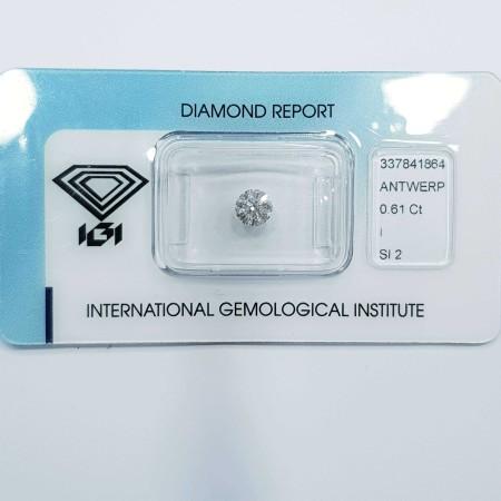 Diamante Certificato IGI 0.61 I SI2 - REP.337841864 LOTTO 0.50