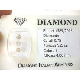 Diamonds trilogy in blister packs of 0.75 ct total