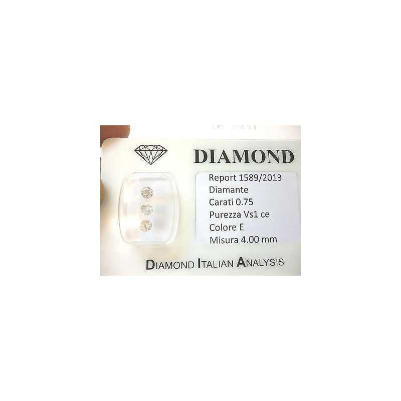 Diamanti trilogy in blister da 0,75 ct totali
