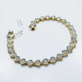 Bracelet de Tennis avec des Diamants 1.38 ct Total