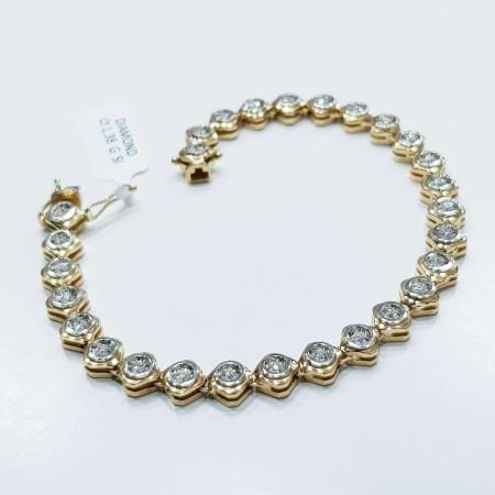 Tennis bracelet with total 1.38 ct diamonds