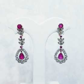 Earrings Diamonds and Rubies - 50% DISCOUNT