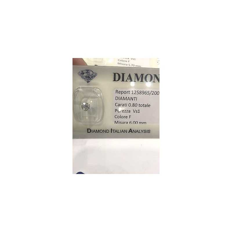 DIAMANTE 0.80 f COLOR vS 1 LOTTO 0.50 0.60 SCONTO 55 %