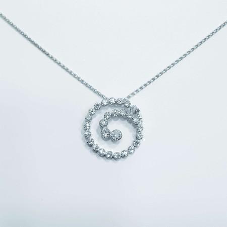 Collier Circle Diamonds 0.70 ct purity vs color G