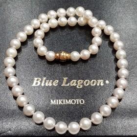Perles Bleu Lagon Mikimoto 8.5-9.0 mm - prix-Liste de 6.200 €