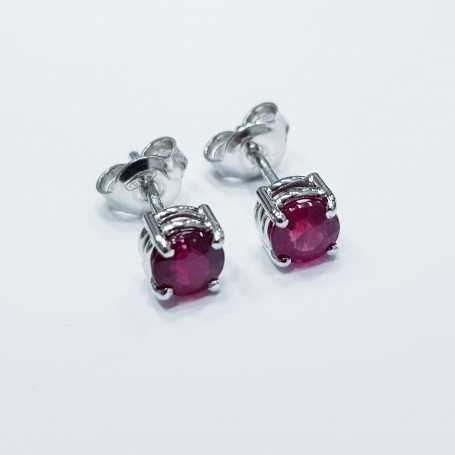 Ruby earrings 1.35 carats total - discount 50%