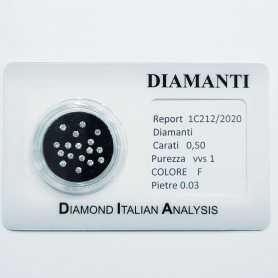 BLISTER DIAMANTI 0.50 ct TOTALI - Lotto 0.03 ct