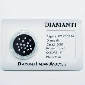 diamant, diamants de 0.50 tous 0.03 beaucoup sous blister