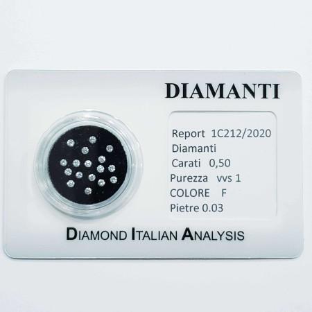 BLISTER diamonds 0.50 ct total-lot 0.03 ct