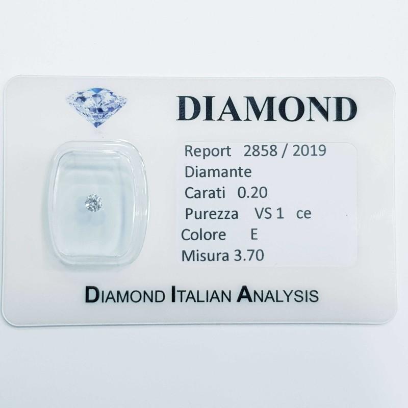 DIAMANT DE 0,20 CARAT E COULEUR VS 1 OFFRE 50 % lotto 0.50 0.30 0.20