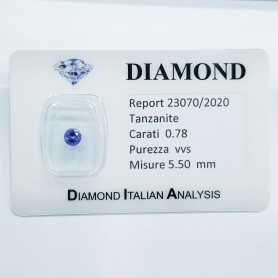 TANZANITE 0.78ct in BLISTER CERTIFICATO - R23070/2020