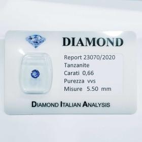 TANZANITE 0.66 ct BLISTER CERTIFICATE - R23070/2020