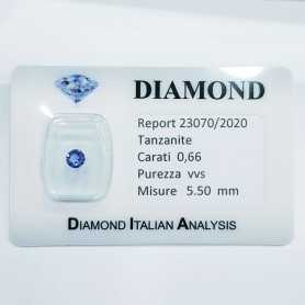 TANZANITE 0.66ct in BLISTER CERTIFICATO - R23070/2020