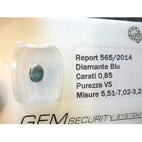 DIAMANTE FANCY BLU BLUE 0.85 CARATI LOTTO 0.50 0.75 1.0