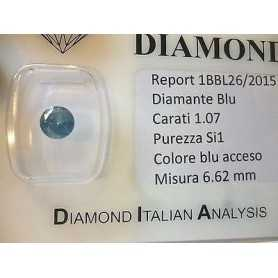 Diamante naturale in blister da ct 1,07