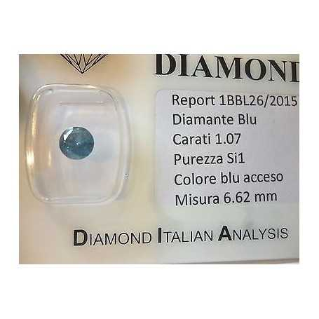Natural diamond in blister ct 1,07