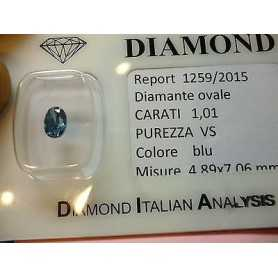 Diamante naturale in blister da ct 1,01