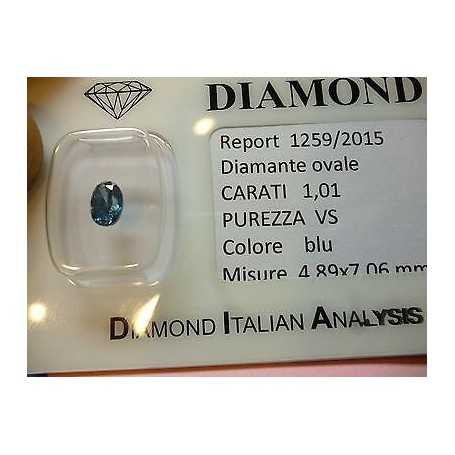 Natural diamond in blister ct 1,01