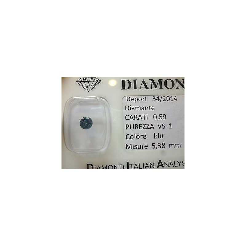 Natural diamond in blister 0.59