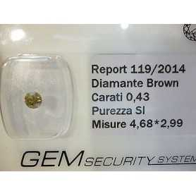 DIAMANT FANCY BROWN 0.43 CARATS BEAUCOUP DE 0.50 0.75 1.0