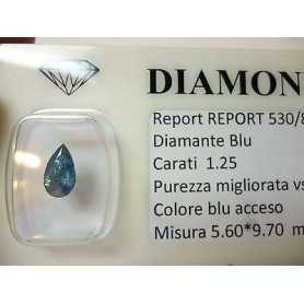 Natural diamond in blister packs of 1.25