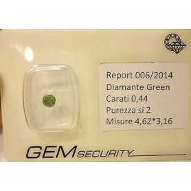 DIAMANTE GREEN 0,44 CARATI LOTTO 0.20 0.50 0.75 1.0