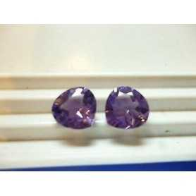 Amethyst Cut HEART 4.40 CT PAIR Brazil 2.00 3.00 4.00 TOP COLOR