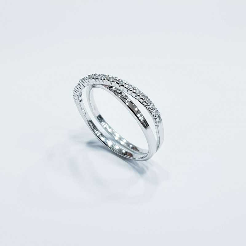 RING IN RHODIUM-PLATED SILVER WITH ZIRCONIA AS DIAMONDS MIS17